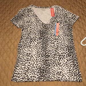 NWT grey cheetah top
